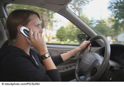 Driving while on Telephone